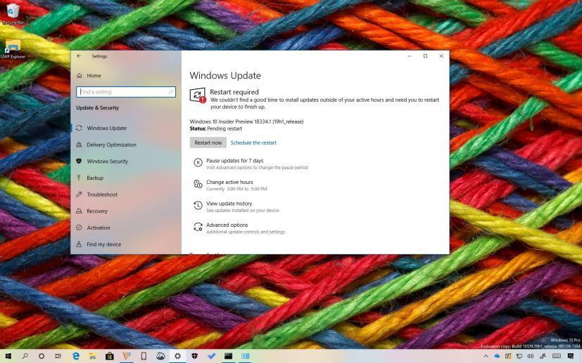 Windows 10 build 18334