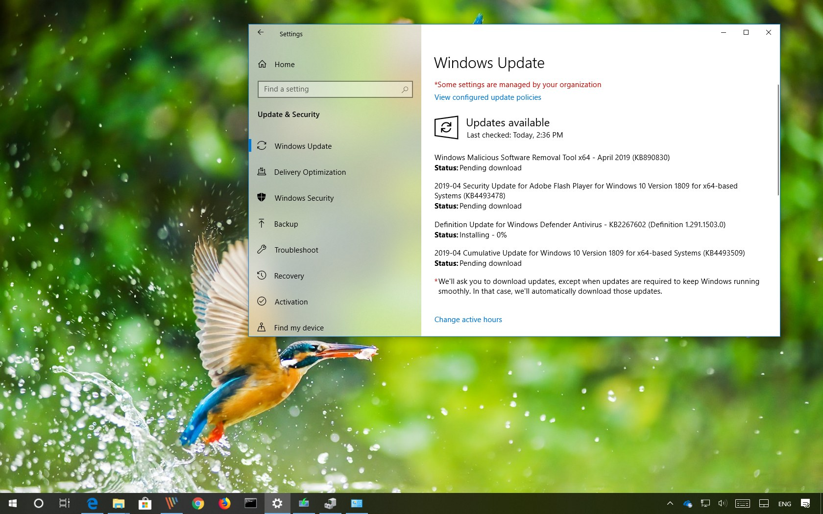 KB4493509 update for Windows 10 version 1809