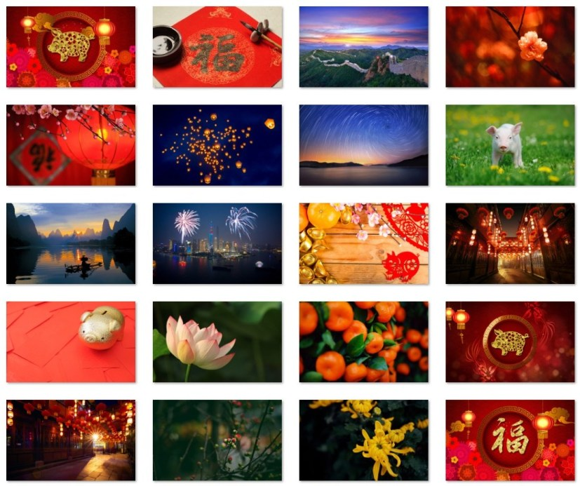 China Year of the Pig wallpapers