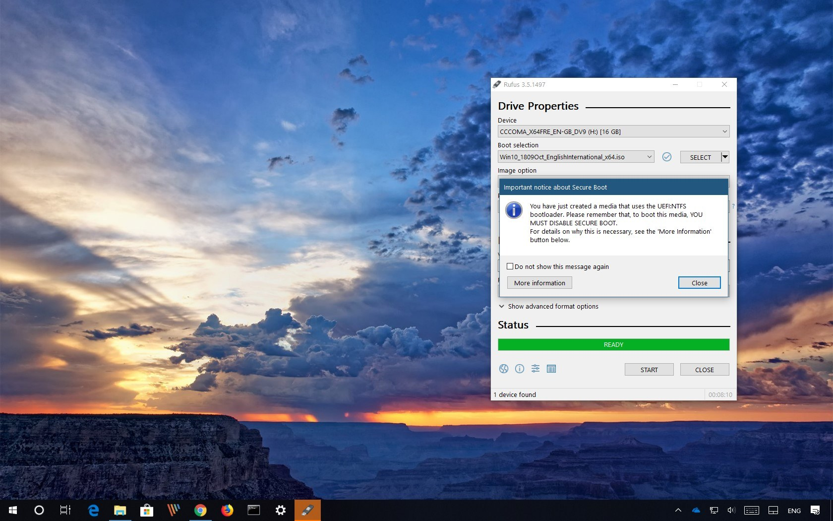 Rufus download Windows 10 ISO and create bootable USB installation media