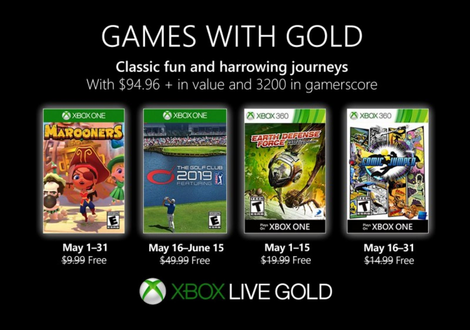 Xbox Games with Gold May 2019