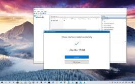 Ubuntu VM using Hyper-V Quick Create feature