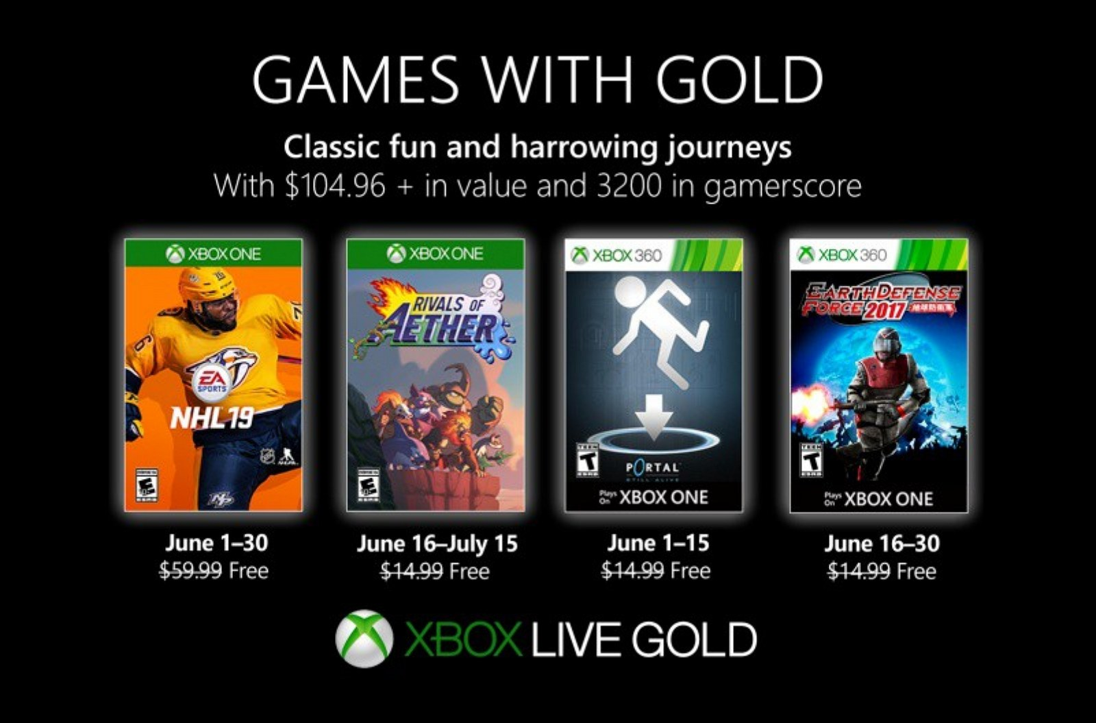 Xbox Games with Gold for June 2019