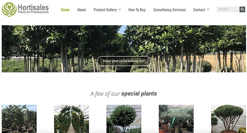 Hortisales Website built and maintained by Pure IT - web design, hosting & SEO
