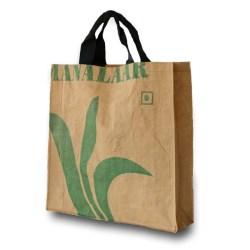 Fairtrade tas gemaakt van hergebruikte theezakken purelabels