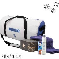 kerstpakket voor mannen weekendtas met verzorgingspakket en handdoek