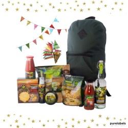 duurzaam kerstpakket met mooie rugzak en biologische producten purelabels