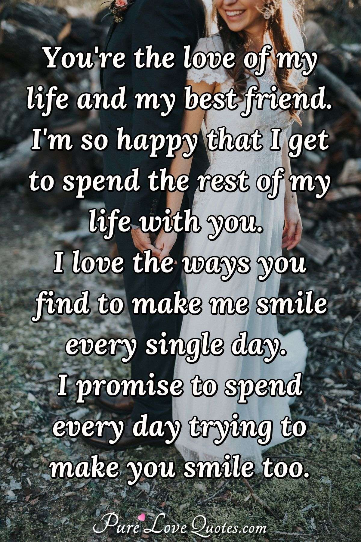 In Love With Best Friend Quote : friend, quote, You're, Friend., Happy, Spend..., PureLoveQuotes