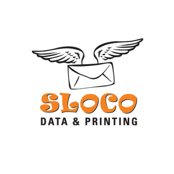 SLOCO Data and Printing mailing service logo by Purely Pacha