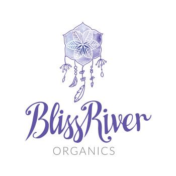 Bliss River Organics - logo by Purely Pacha
