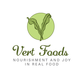 Vert Foods logo by Purely Pacha