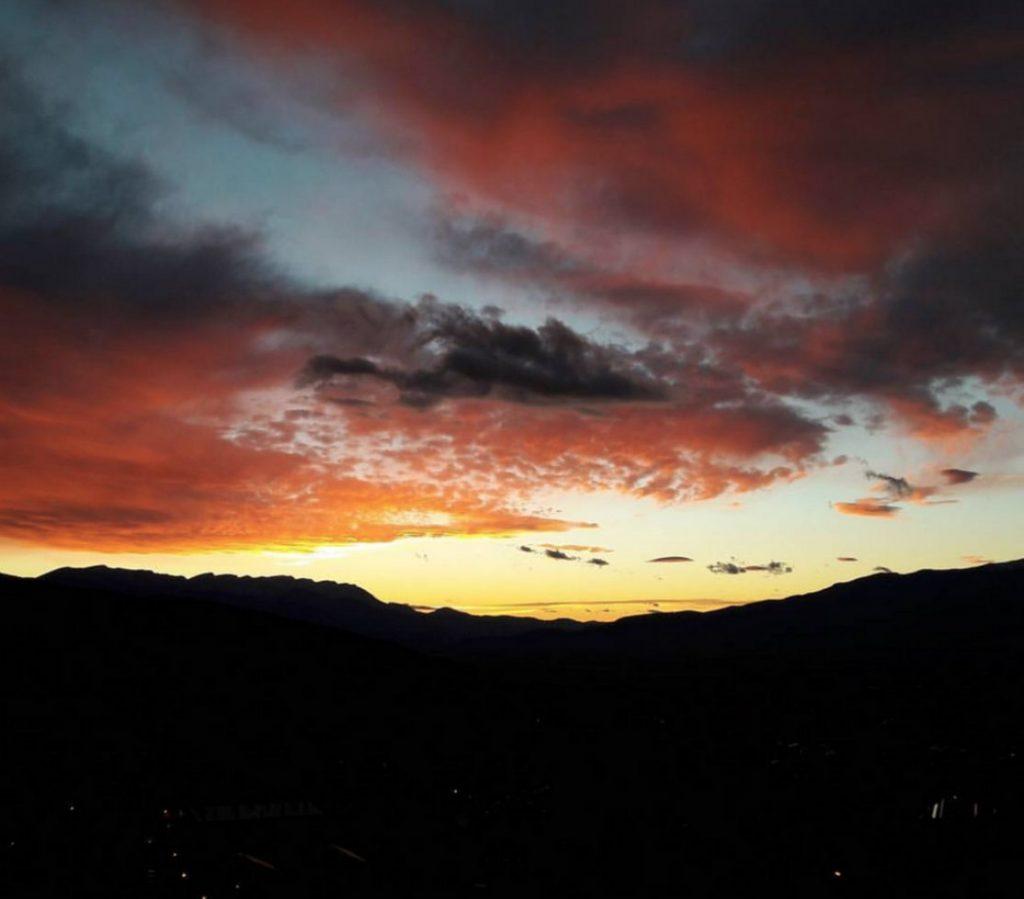 Cerdange sunset seen from Osseja