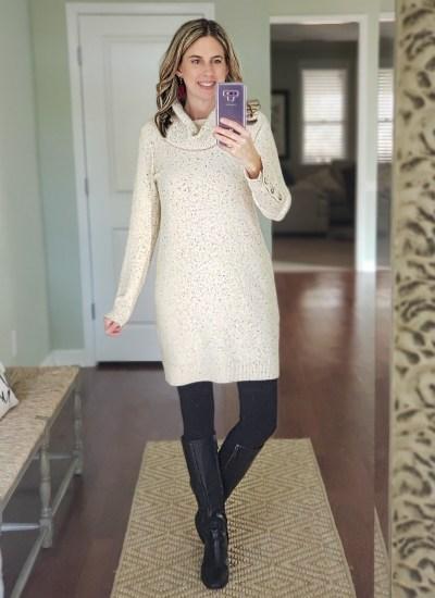 LOFT Sweater Dresses, Fun Earrings and Sale Favorites