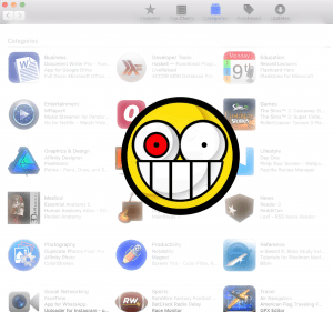 app store screenshot with crazy face