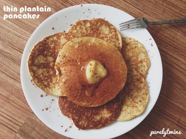 thin plantain pancakes