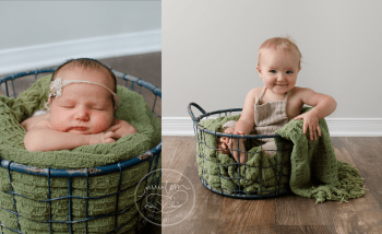 Neve-newborn-to-birthday-before-after12-months-baby-photos