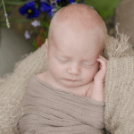 theo-bellerose-outdoor-newborn-photos pure natural newborn ottawa gatineau photographer blue pansies