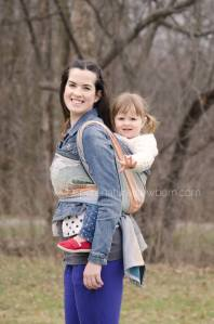 baby wearing ottawa photography pure natural newborn park photos