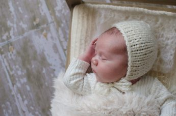 Newborn Romper & Knit Bonnet