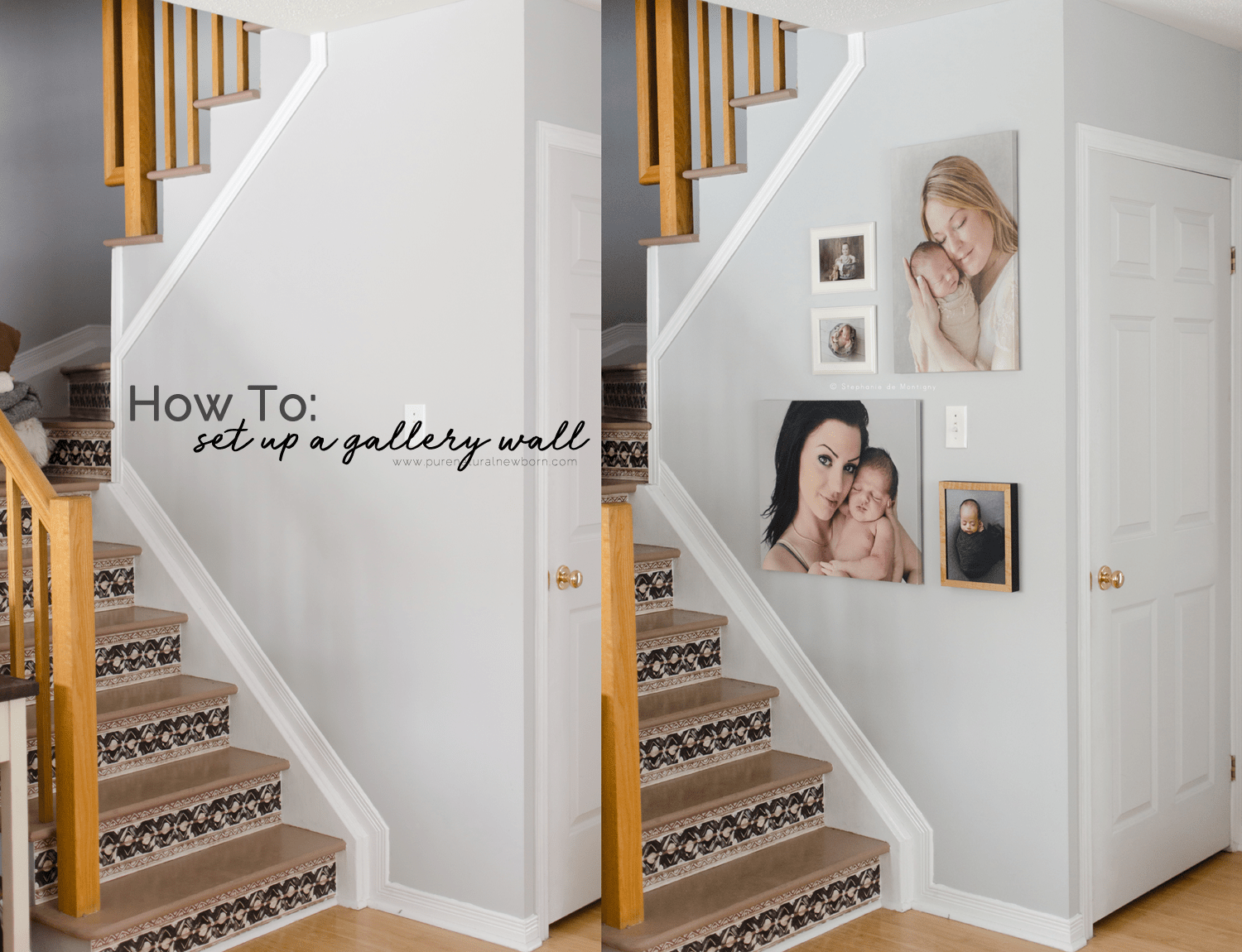 Before & After Stairwell Gallery Wall