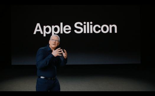 애플 실리콘 전환을 발표하는 팀 쿡 CEO