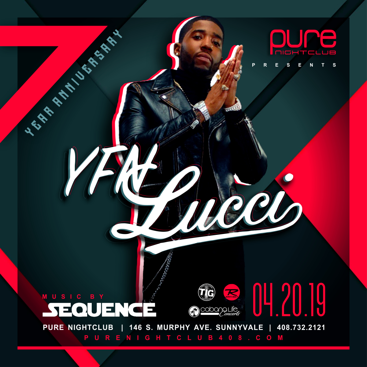 Celebrating our 7 Year Anniversary with YFN Lucci 04 20 19