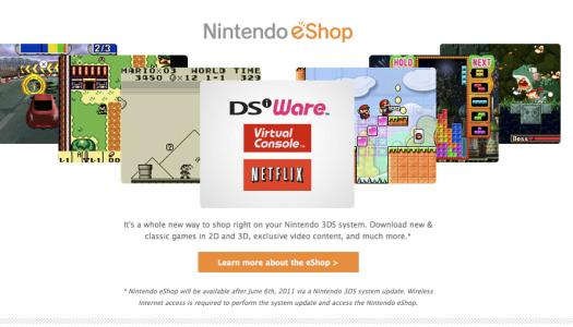 List of 3DS eShop Games/Features