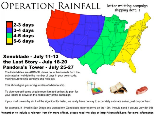 Operation Rainfall Increases Pressure on Nintendo of America with Mail  Campaign to Bring Already Translated Game to America - Pure Nintendo
