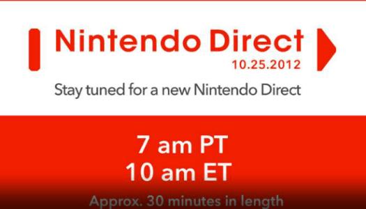 NA Nintendo Direct starts 10 am EST