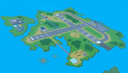 Pilotwings Map Featured in Super Smash Bros.