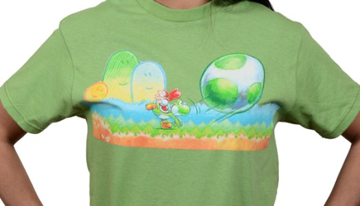 Yoshi's New Island T-Shirt Now Available in US Club Nintendo Store