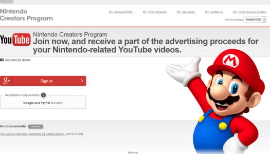 Nintendo announces Nintendo Creators Program for YouTube