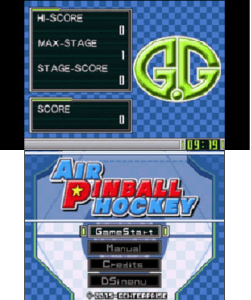 Air Pinball Hockey menu