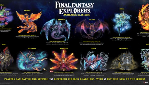 New Summons Unveiled in Final Fantasy Explorers