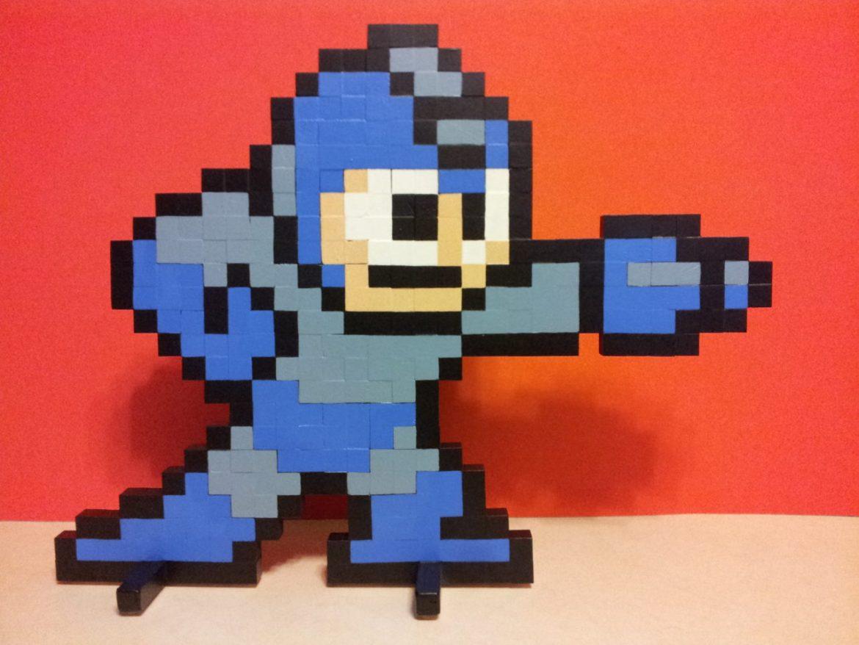 Mega Man Wooden Sprite Standee by MrGilder