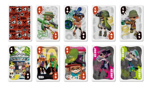 Splatoon playing cards heading to Japan