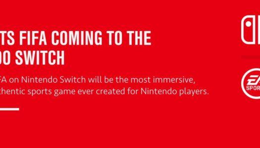 PR: EA Sports FIFA coming to Nintendo Switch
