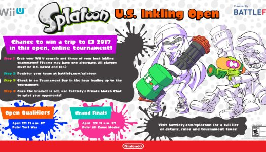 Enter Splatoon U.S. Inkling Open Tournament For a Chance to Win a Trip to E3 2017