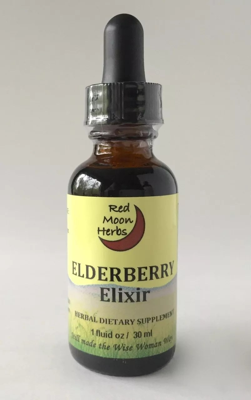 Elderberry Elixir, Antioxidant Immune Booster, Red Moon Herbs