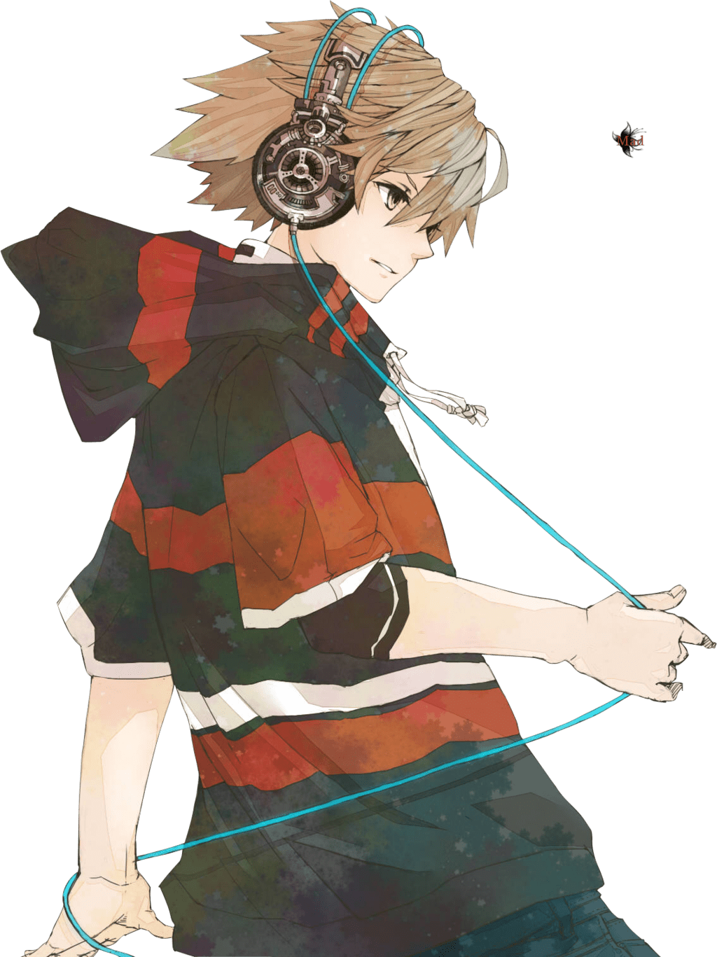 Anime Character Listening To Music : anime, character, listening, music, Anime, Listening, Music, Image, PurePNG, Transparent, Library