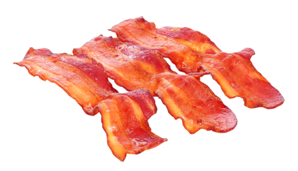 bacon meat fried pork transparent cooked fatiado beef purepng without selectas carnes caribe picado