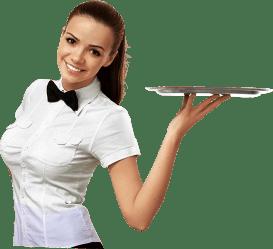 waitress transparent purepng