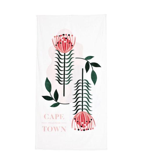 Pure Designer Products Botanical towel Protea flat