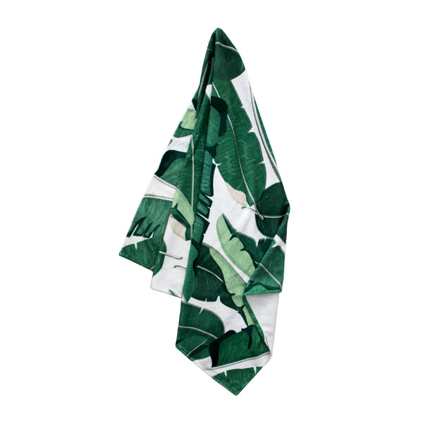 Pure Designer Products botanical towel Banana leaf with or without tassels