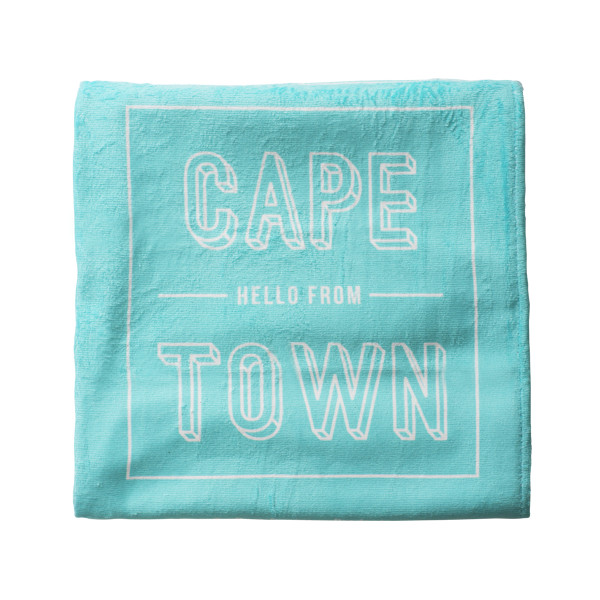 Pure Designer Products Cape Town illustration towel blue folded