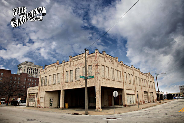 Downtown Saginaw firestone building