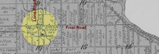 frost Michigan map