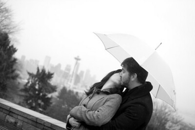 Engagement pictures at Kerry Park, Discovery Park and Pioneer Square in Seattle Washington by PureShots Photography's Christi Hardy