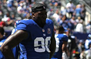Jason Pierre-Paul's Fourth of July may have him missing the start of the season (Photo Credit: Bobby O'Hara/ PureSportsNY)