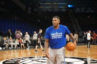 Joe Johnson in warm-ups looking to come out of his slump. Photo Sherman Gomez/PureSportsNY